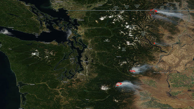 Images From Space Show Wildfire Smoke Swallowing Northwest Kiro Tv