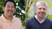 Image: Seattle City Council president Bruce Harrell left, Seattle Mayor Ed Murray, right.