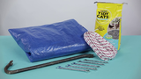 Tarps, crowbars, wrenches and even kitty litter can be helpful.