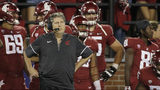 Washington State head coach Mike Leach stands on the sideline on during the first half of an NCAA college football game against Boise State in Pullman, Wash., Saturday, Sept. 9, 2017. (AP Photo/Young Kwak)