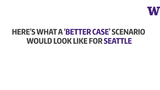 By contrast, a better scenario for Seattle would actually be an earthquake that begins closer – off the Olympic Peninsula – where the fault line breaks away from the city.