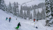 Crystal Mountain photo showing skiers. The News Tribune, file