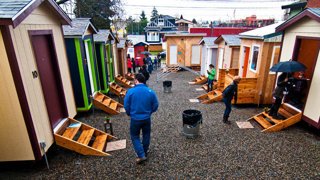 Three tiny house villages and three sites which includes tiny homes and tents operate in seattle under the low income housing institute