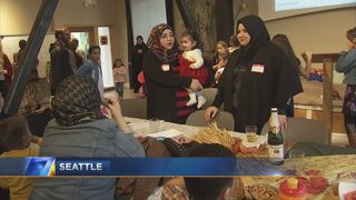 Syrian refugees celebrate first Thanksgiving