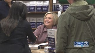 Hillary Clinton greets Seattle supporters in midst of sexual harassment reckoning