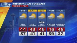 KIRO PinPoint Weather Video for Thurs. evening