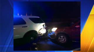 Troopers: Driver suspected of DUI arrested after hitting patrol car
