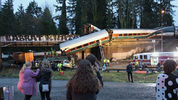 In this photo provided by Daniella Fenelon, first responders work at the scene of an Amtrak train that derailed in DuPont, south of Seattle on Monday, Dec. 18, 2017. (Daniella Fenelon via AP)