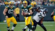 Week 1: The Seahawks travel to Green Bay and fall 17-9 against the Packers. Despite holding Green Bay to 17 points, Packers quarterback Aaron Rodgers threw for 311 yards in the win. (Joe Robbins/Getty Images)