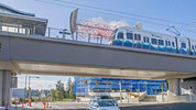 This is the new Angle Lake station for Sound Transit's LINK light rail. It's on on South 200th street in SeaTac. The parking structuree is in background. September 20, 2016, Peter Haley, The News Tribune