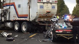 VIDEO: Teen driving to high school critically injured after crash with garbage truck