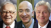 From right to left: Warren Buffet, Jeff Bezos, James Dimon.