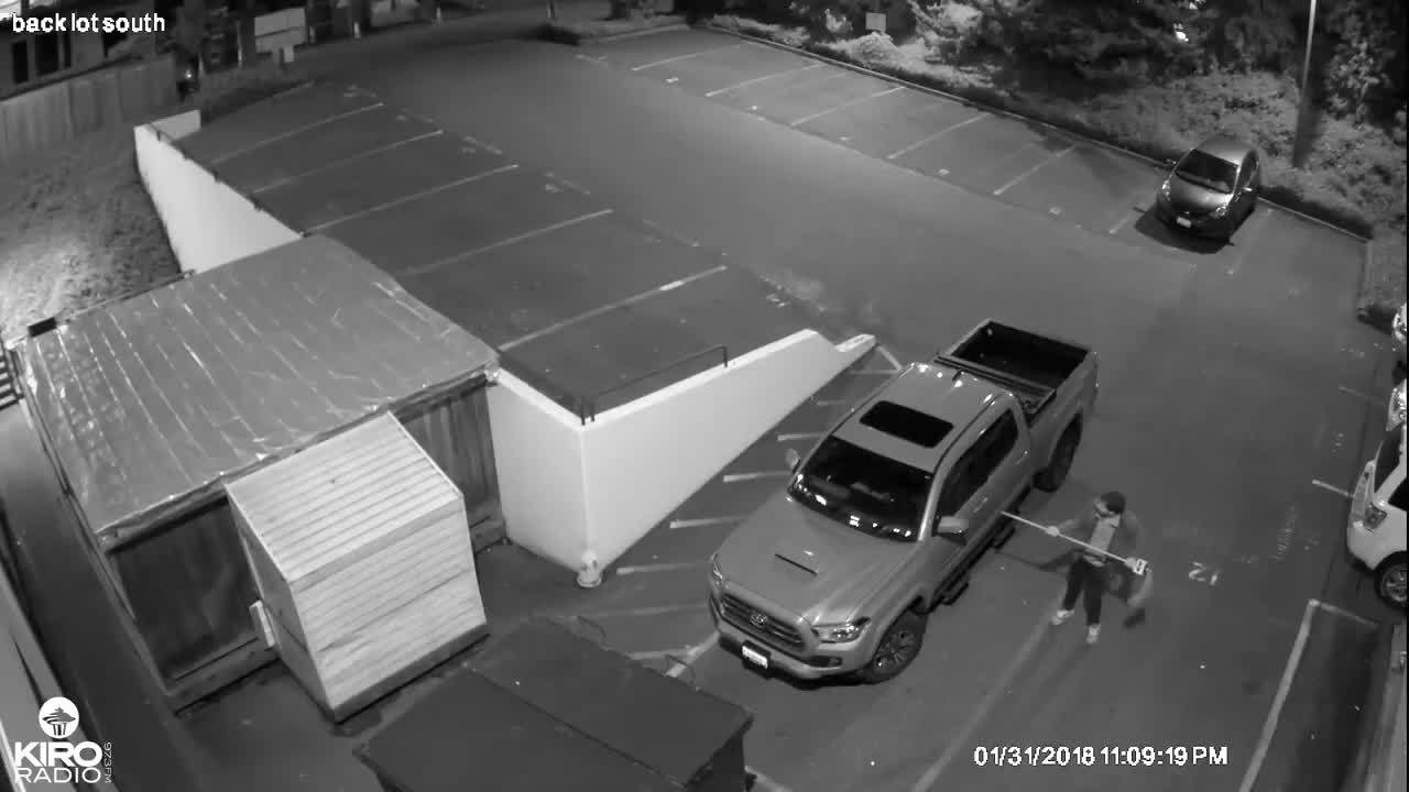 WATCH: Play-by-play of a car prowl in KIRO Radio parking lot