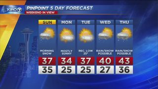 KIRO 7 PinPoint Weather for Saturday Feb 17 2018