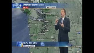 KIRO 7 Pinpoint Weather video for Weds. morning