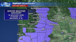 Light snow falls in Seattle, more expected elsewhere Friday evening