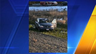 Tire strikes I-5 driver causing crash, injuries