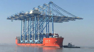 Massive container cranes to arrive in Puget Sound. Here