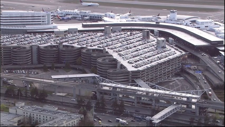 Sea Tac Parking Garage Near Capacity Airport Recommends Travelers