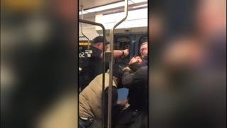 Cell video captures man pepper sprayed on Sound Transit train