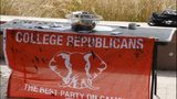 VIDEO: Conservative college group targeted by protestors