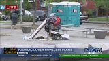 VIDEO: Pushback continues over homeless plans