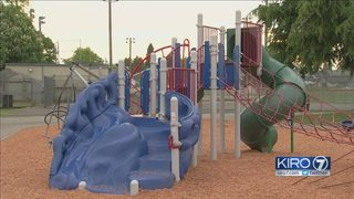 Toddler pricked by dirty needle at Everett playground