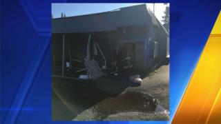 Truck crashes through Aberdeen restaurant, suspect walks away