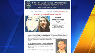 Police: Teen missing out of Bonney Lake may be with sex offender