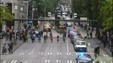 Second Avenue was blocked Tuesday morning, June 5, at Union Street.