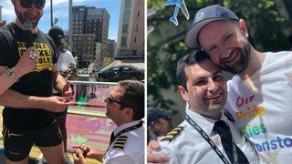 Alaska Airlines pilot gets engaged during 2018 Seattle Pride Parade