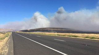 Wildfire closes Interstate 90 near Kittitas