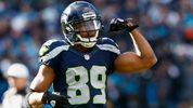 Doug Baldwin #89 of the Seattle Seahawks reacts during the NFC Divisional Playoff Game against the Carolina Panthers at Bank of America Stadium on January 17, 2016 in Charlotte, North Carolina. (Photo by Jamie Squire/Getty Images)