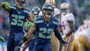 Free safety Earl Thomas #29 of the Seattle Seahawks celebrates a defensive stand in the third quarter against the San Francisco 49ers at CenturyLink Field on December 14, 2014 in Seattle, Washington.  (Photo by Otto Greule Jr/Getty Images)