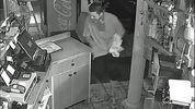 Burglary of Keballa's Pizza on 8/10/18 at 2:30 am. Suspect breaks in and steals the cash register. You can also see part of the suspect vehicle. Know something? epdtips.edmondswa.gov or 425-771-0212.