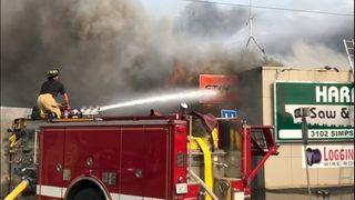 Fire rips through Hoquiam business