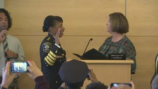 RAW: First of three ceremonial swearing in events for Seattle Police Chief Carmen Best