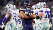 Bobby Wagner #54 of the Seattle Seahawks reacts after the Dallas Cowboys missed a field goal in the fourth quarter at AT&T Stadium on December 24, 2017 in Arlington, Texas. (Photo by Tom Pennington/Getty Images)