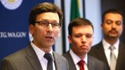 Washington State Attorney General Bob Ferguson announces his decision on potential action regarding President Donald Trump's latest Executive Order on immigration on March 9, 2017 in Seattle, Washington. (Photo by Karen Ducey/Getty Images)