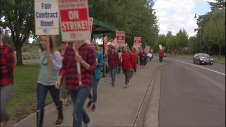 Parents roll with the punches during Tumwater strike