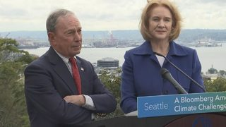 RAW: Mayor Durkan, Michael Bloomberg news conference on climate change