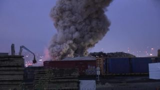 RAW VIDEO: Tacoma scrap metal fire expected to burn for days