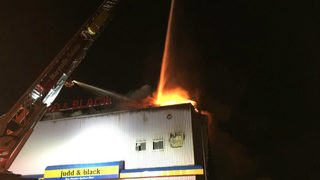 PHOTOS: Everett firefighters battle two-alarm fire