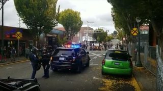 Police respond to protests over closed park in downtown Olympia