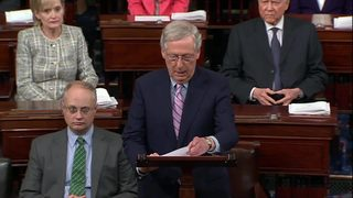 RAW VIDEO: Sen. Mitch McConnell speaks before final vote
