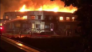 RAW: 3-alarm fire at old Olympia Brewery building