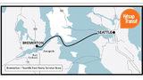 The Seattle to Bremerton fast passenger ferry run operated by Kitsap Transit.
