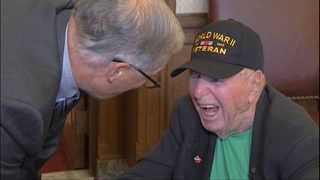 99-year-old WWII veteran aspires to meet every governor