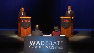8th District candidates Dino Rossi and Kim Schrier clash in only debate