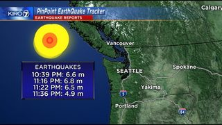 3 powerful quakes reported near Vancouver Island